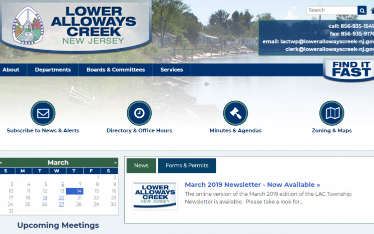 New LAC Website Homepage